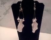 FWP Bead & MOP Chips Dangle Earrings