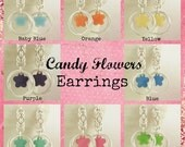 Candy Flowers Earring KIT - Easy and Fun for Beginners -  YOU PICK from 8 Flower Colors