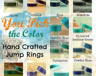 100 Byzantine JUMP RINGS 18 gauge 3.75mm ID -  You Pick From 12 Great Colors