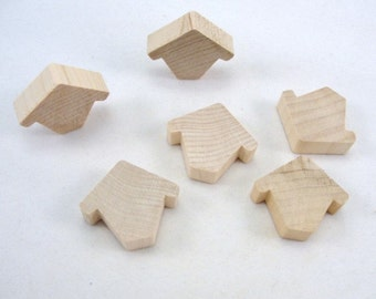Miniature wooden birdhouse Chickadee house set of 6