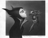 "Maleficent and Diablo ""Uninvited"" art print"
