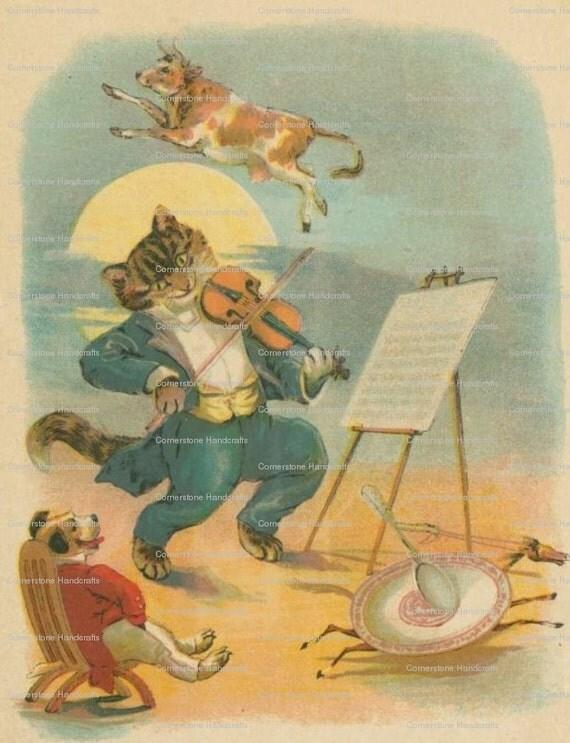 5 Vintage Nursery Rhyme Art Prints Instant Digital Download