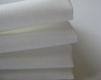 Cloth Napkins - White - 100% Cotton Napkins