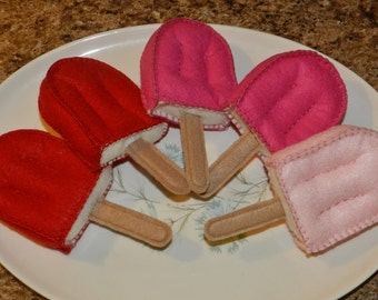 Felt Cherry Creamsicle - Child's Play Time Pretend Felt Food