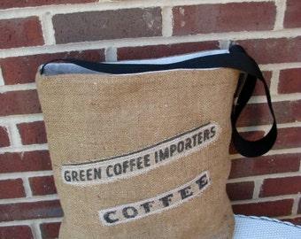Burlap Tote Bag Made With Recycled Coffee Sack/Bag