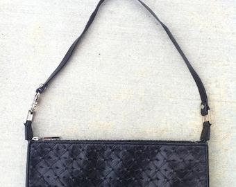 Baguette Handbag Black Leather