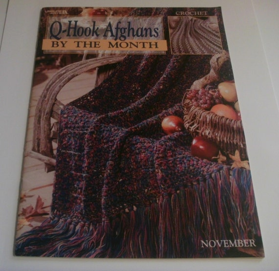 Crocheting With Q Hook : Hook Crochet Afghan Pattern Book by DStullsCreations on Etsy