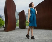 Women's Dress, Cotton Jersey, Choice of Color, Aline, Modern Chic- made to order