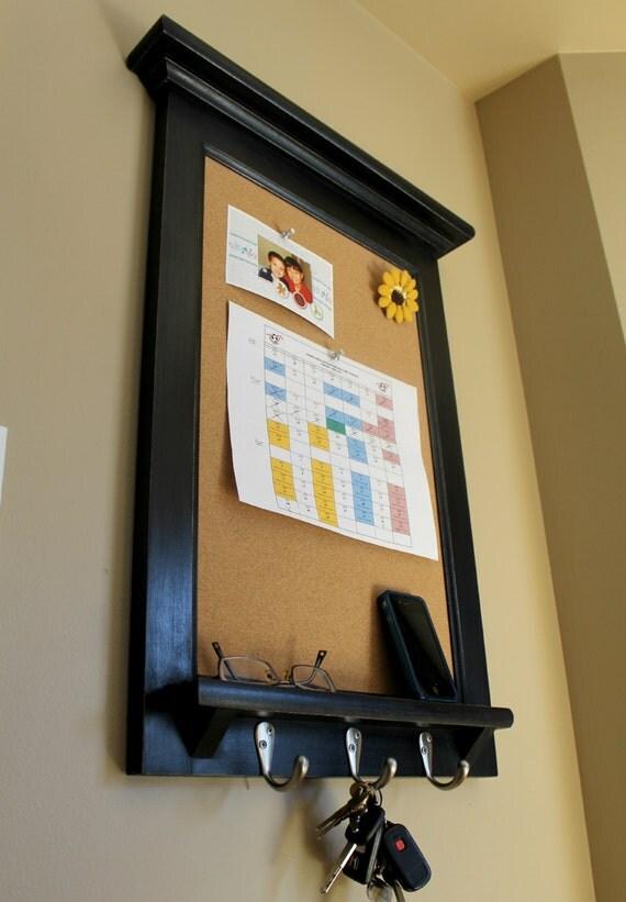 Organizer bulletin board shelf and key hook furniture by for Bulletin board organizer