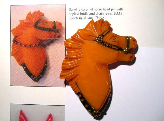 REDUCED From The Land of MisFit Bakelite.  1940s Carved Horse Head, missing rein.