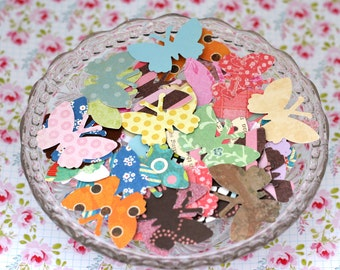 Paper Punched Butterflies Embellishments