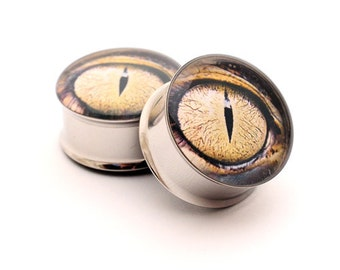 Eyeball Picture Plugs Style 9 gauges - 1 1/8, 1 1/4, 1 3/8, 1 1/2 inch
