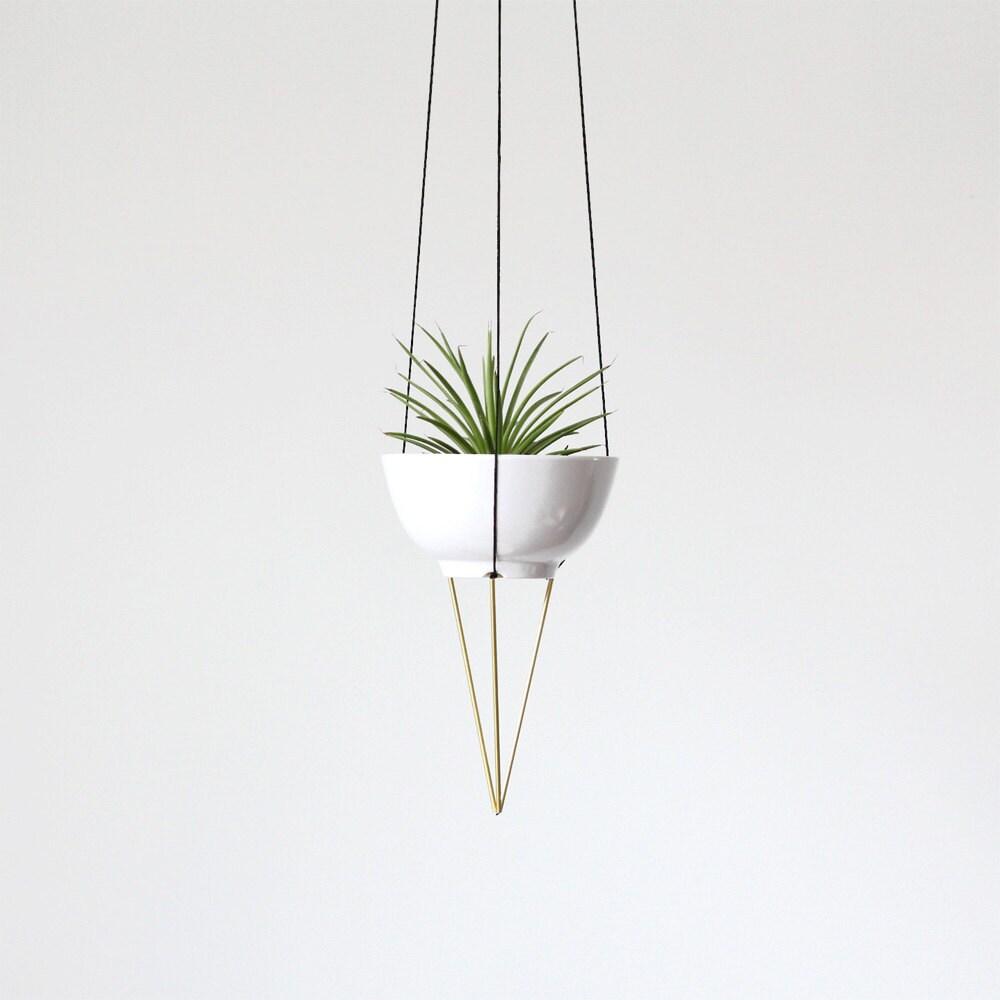 Brass Himmeli Hanging Planter No 1 Modern Macrame