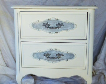 My Paris Apartment Nightstand PAINT to ORDER Vintage Poppy Cottage