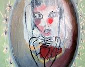 Bunny Girl - Original oil painting by Stacy Novak