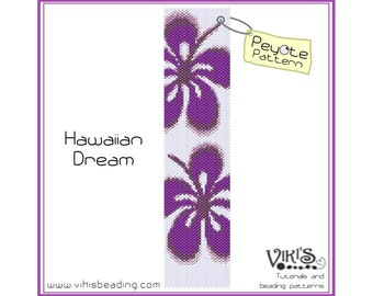Peyote Bracelet Pattern: Hawaiian Dream - INSTANT DOWNLOAD pdf - Special savings with coupon codes