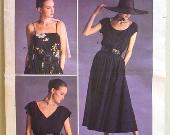 vogue american designer pattern 1909 - ralph lauren top and skirt - (1987) - UNCUT