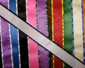 """Blank Sash w/Border 4"""" x 72"""" Satin Ribbon w/velcro fashioner"""