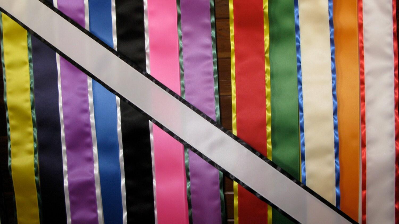 Blank Sash W Border 4 X 72 Satin Ribbon W Velcro By Allmontana