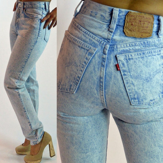 vintage 80s womens levis 501 high waisted jeans womens. Black Bedroom Furniture Sets. Home Design Ideas