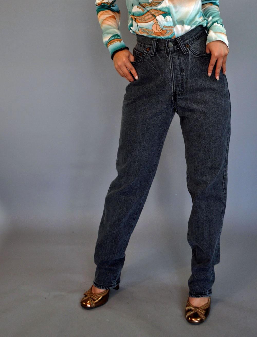 Faded Black Skinny Jeans Womens