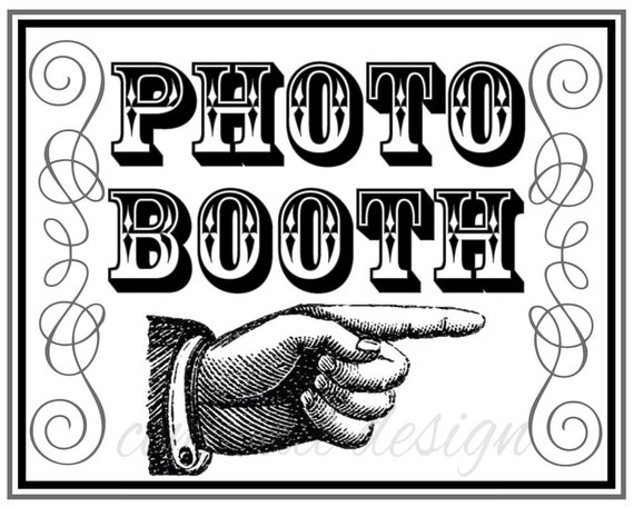 Playful image with photo booth sign printable