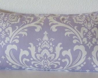 Pillow Cover - Purple White - Damask - Ozborne Twill Wisteria - Decorative - Pillow Case