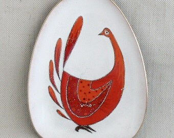 Egg Shaped Dish,  Enamel on Copper,  by Miguel Pineda