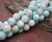 Crater Lake Faceted Agate Gemstone 8mm Beads