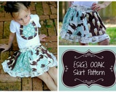 INSTANT Download SIG OOAK (one-of-a-kind) Skirt Pattern for Toddlers - Size 12 month to 5T