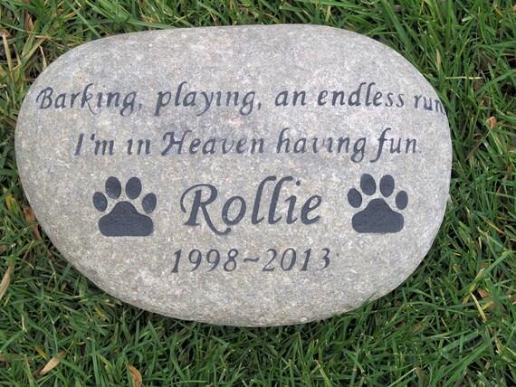 Personalized Pet Dog Memorial Stone Garden Memorial Cemetery