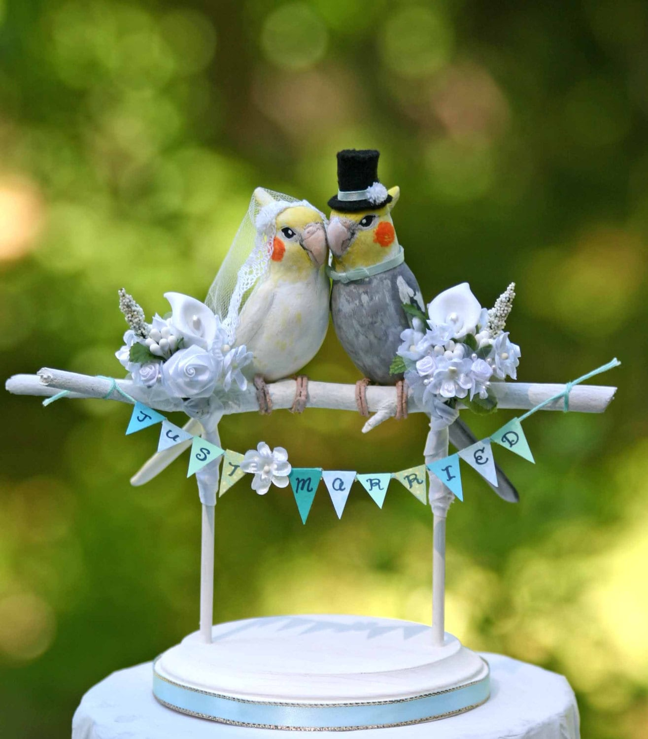 love bird wedding cake topper cockatiel birds wedding cake topper 5607