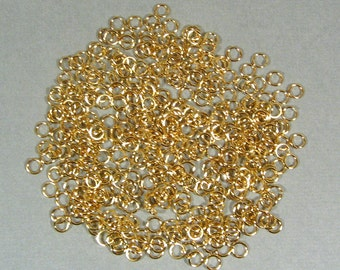 4mm Gold Plated Jump Rings