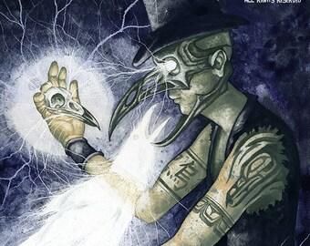 Shadow Man 3 Original Painting by Chad Savage