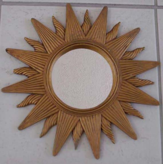 Mid Century Modern Sunburst Starburst Wall Mirror by ...