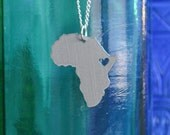 Ethiopia Love Pendant On 18inch Sterling Silver Chain