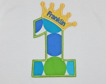 First Birthday T-shirt, Boys Birthday Crown, Prince T-shirt Boy, Birthday Tee, Prince BirthdayTee