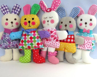 Ragtaggle Rabbits sewing pattern - INSTANT DOWNLOAD