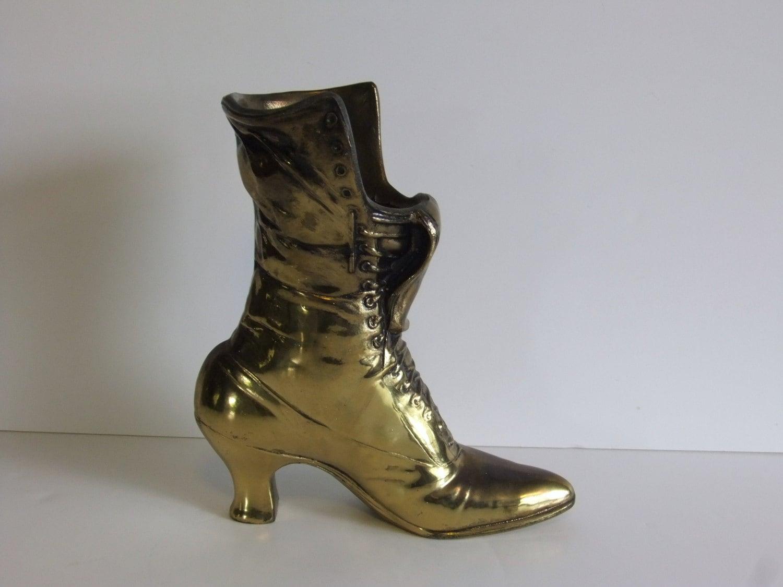 Vintage Brass Boot La s boot Planter Boot Vase La s