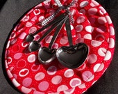 Heart Warming Hot Pad With Measuring Spoon Set