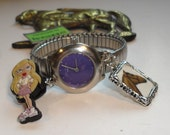 Watch And Charm Bracelet Gift For Horse Lover Handmade By Recycloanalyst