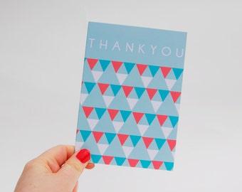 Geometric Thank You Card