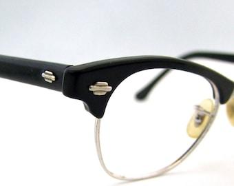 1950s Cats Eye // Art Craft brand // 50s Horn Rimmed Eyeglasses //  USA