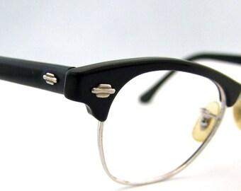 1950s Browline // Art Craft brand // 50s Horn Rimmed Eyeglasses //  USA