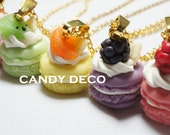 French Macaron Necklace (Pick One Color)