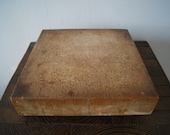 Vintage Small Solid Wood Chopping Block