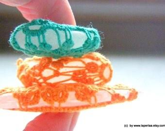 Mermaid Tears Sea Glass - HAPPY - Genuine Organic Tangerine Tatted Lace Sea Glass from Amalfi  - recycled reuse