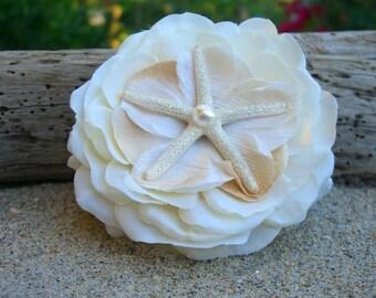 Starfish Hair Flower-SEASIDE DREAMS-Beach Weddings, Mermaid Hair, Starfish Hair, Floral Hair Clip, Coastal Weddings, Destination Weddings