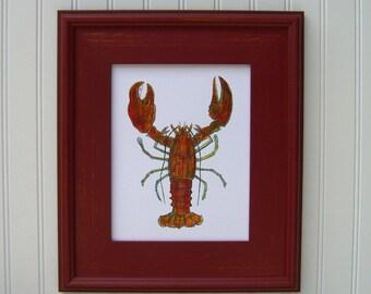 Sea Life Wall Art,Beach House,Sea Life Home Decor,Sea Life Prints,Housewarming,Hostess Gift,Nantucket,Red Home Decor,Ocean Home Decor