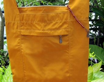 Saffron Thai Buddhist Monk's Alms Bag